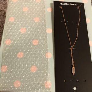 Baublebar Pink Crystal Necklace